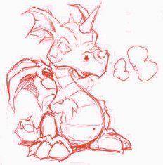 Dessin Dragon Facile Mignon